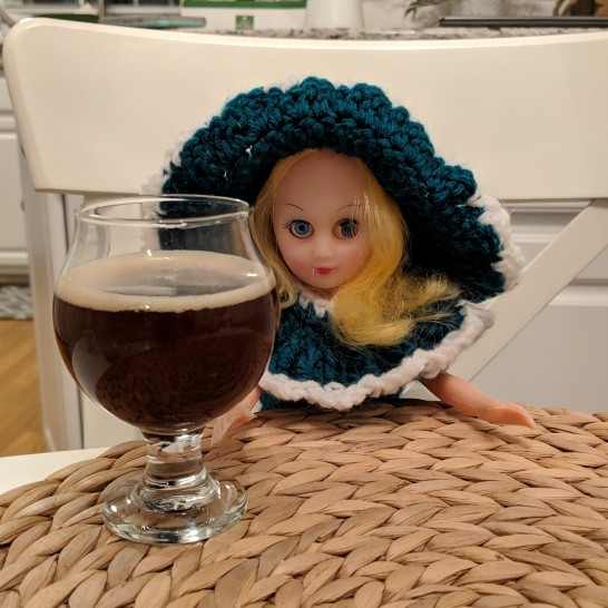 Abigail? Annabelle? Not sure, but she likes beer...we think.